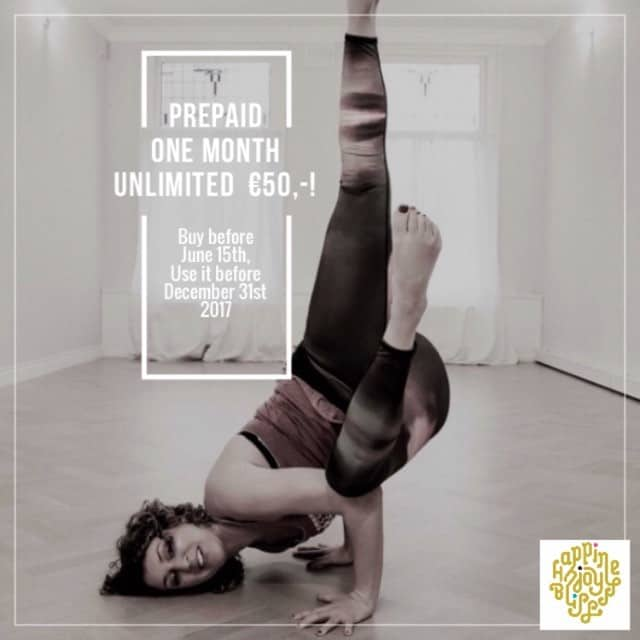 Banner Prepaid actie - Sukha Yoga Amsterdam