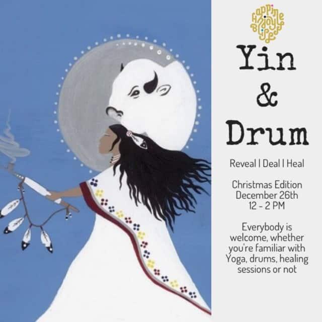Poster aankondiging Yin en Drum