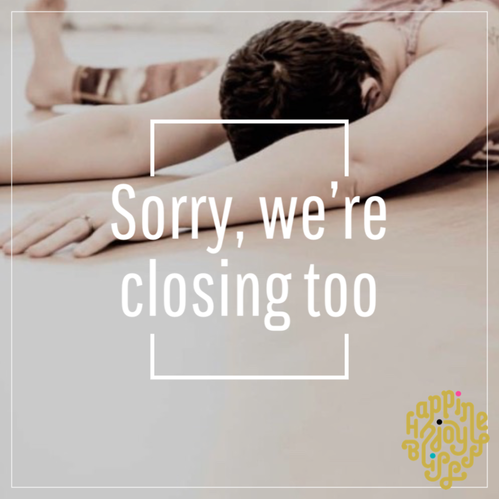 Image with caption about being closed untill April 6th 2020.